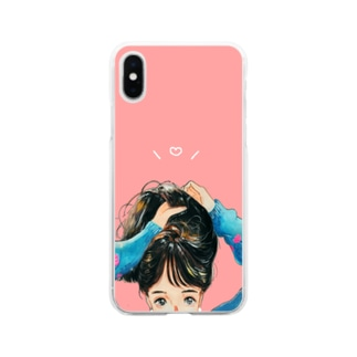 かわいくならなきゃ Soft clear smartphone cases