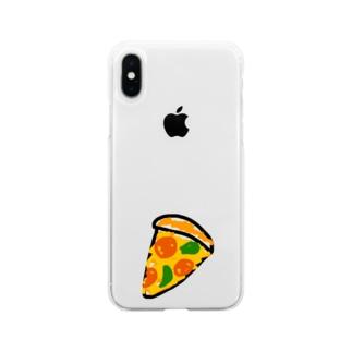 pizza club Soft Clear Smartphone Case