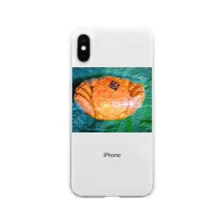 momo_emiのカニ Soft Clear Smartphone Case