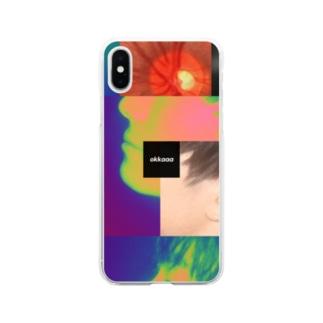 okkaaaの《okkaaa》スマホケース「網膜」 Soft clear smartphone cases