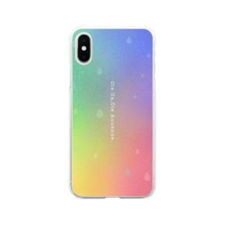 雨が降るから虹が出る Soft clear smartphone cases