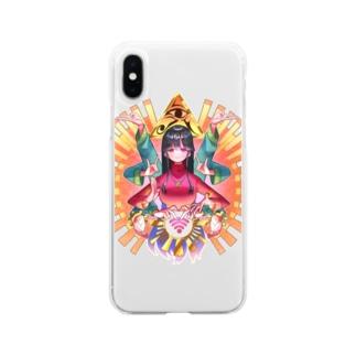 人生妨害電波除去・橙 Soft clear smartphone cases