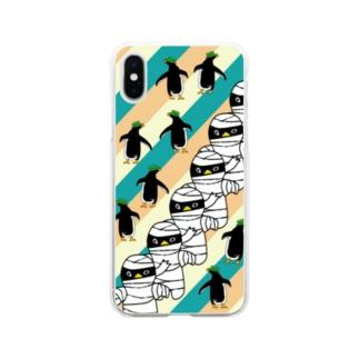 ミイラペンギンiPhoneケース Soft clear smartphone cases