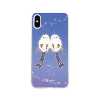 星座シマエナガちゃん(双子座) Soft Clear Smartphone Case