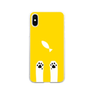 猫きいろ Soft clear smartphone cases
