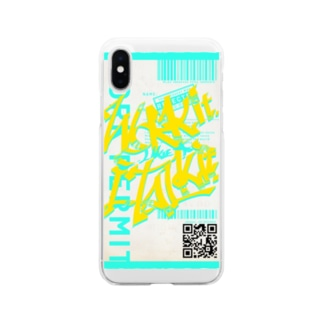 Work it like a I talk it きいろ Soft clear smartphone cases