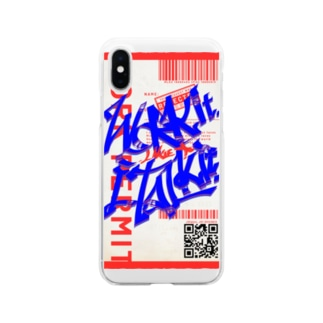 Work it like a I talk itのあおとあか Soft clear smartphone cases