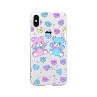 スマホケースくまさん Soft clear smartphone cases