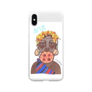 ムルシ族 Soft clear smartphone cases