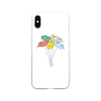 ラッッッコ「バルーン」 Soft clear smartphone cases