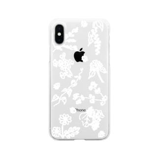 9種の草花 Soft clear smartphone cases