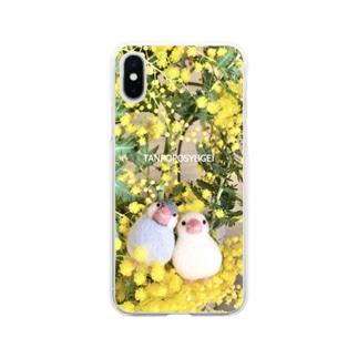 なかよし文鳥 Soft Clear Smartphone Case