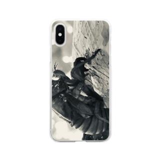 抜け殻 Soft clear smartphone cases