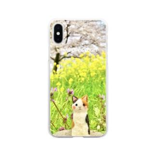 うめちゃんお花見 Soft Clear Smartphone Case