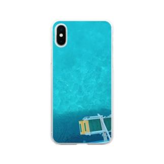 南の海 Soft clear smartphone cases