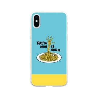パスタマン誕生! -PastaMan is born- Soft clear smartphone cases