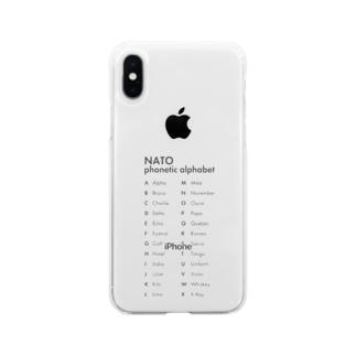 NATOフォネティックコード Soft clear smartphone cases