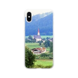 ドイツ:山岳地方の風景写真 Germany: view of a mountain village Soft clear smartphone cases