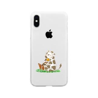 しろくまうしさん Soft clear smartphone cases