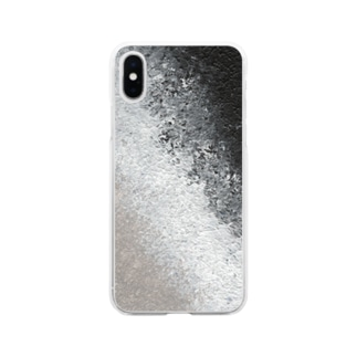 メリーポピンズの傘 Soft clear smartphone cases