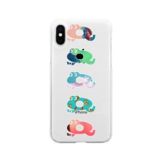 キューくんカラフルver Soft Clear Smartphone Case