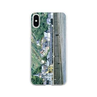 ドイツ:ライン河畔の風景写真 Germany: Riverside view of rhein Soft clear smartphone cases