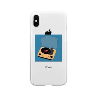 憧れのレコード Soft clear smartphone cases