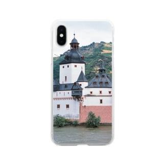 ドイツ:プファルツ城 Germany: Pfalzgrafenstein am Rhein Soft clear smartphone cases