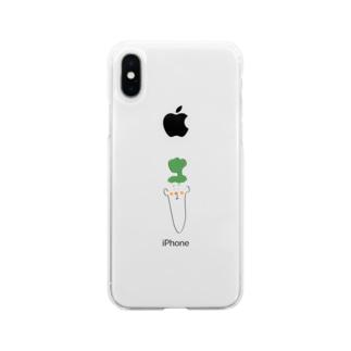 人参三 Soft clear smartphone cases