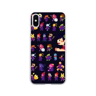 四ツ谷坂四十八ドット絵 Soft clear smartphone cases