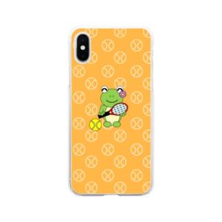 テニス×かえるさん Soft clear smartphone cases