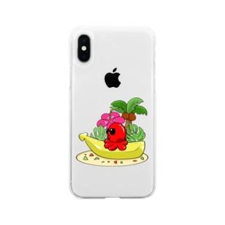 メンタルたこじゃい! Soft clear smartphone cases