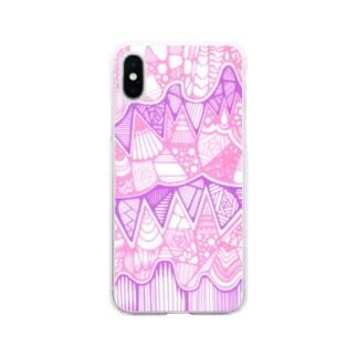 パステルなやつ Soft clear smartphone cases