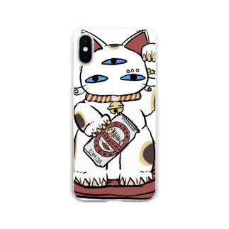 幸福招来3eyes 招きキャット Soft clear smartphone cases