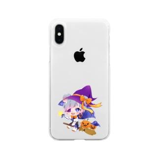 こあらくん ワンポイント Soft clear smartphone cases