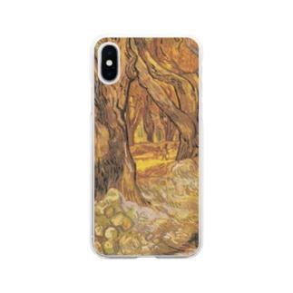 ゴッホ / 『プラタナス並木通りの道路工事』1889年12月 Soft clear smartphone cases