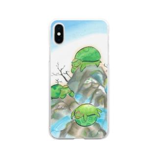 誰が1番のんびりできるか Soft clear smartphone cases