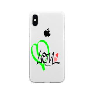 レモン 💚ラブ Soft clear smartphone cases