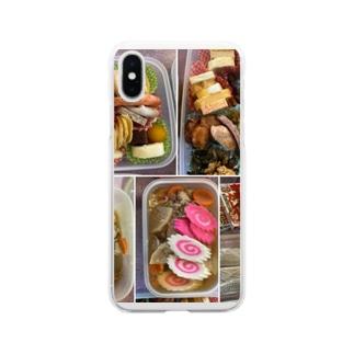 御節料理 カラー(柚 YUZU オリジナル) Soft clear smartphone cases