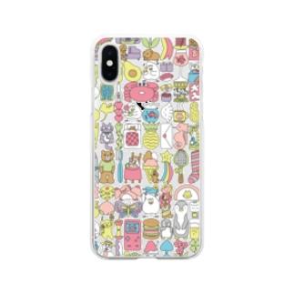ぎゅうぎゅう(パステルカラー) Soft clear smartphone cases