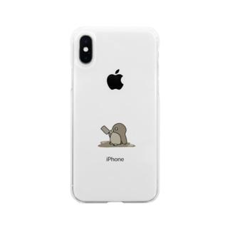 チョコレートペンギン Soft clear smartphone cases