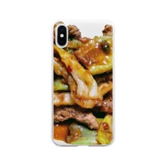 おふくろの味シリーズ Soft clear smartphone cases