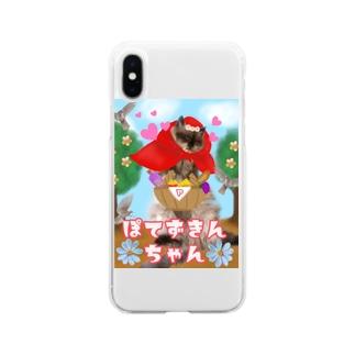 ぽてずきんちゃん Soft clear smartphone cases