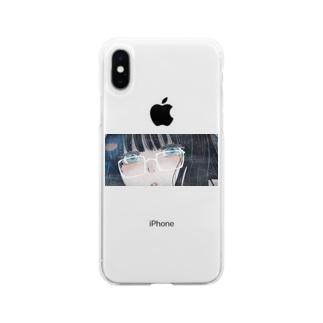 メガネっ娘 Soft clear smartphone cases