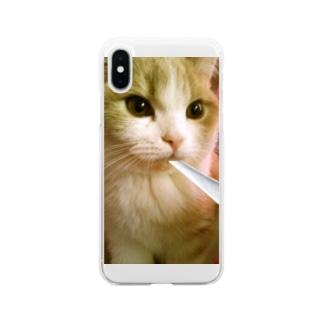 ジョル猫Chillスマホケース Soft clear smartphone cases