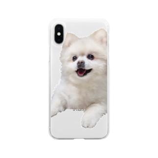 笑顔が眩しいポメラニアン Soft Clear Smartphone Case