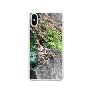 横須賀の野良ハイネケン Soft clear smartphone cases