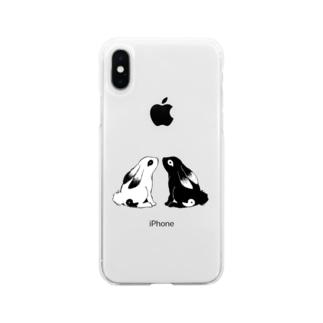 勾玉うさぎさん Soft clear smartphone cases