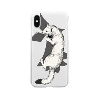 オコジョ Soft clear smartphone cases
