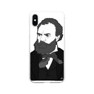 ドボルジャーク先生 Soft clear smartphone cases